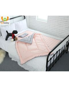 Set đệm ngủ cotton Simple Star Pink